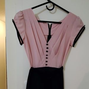 Stop Staring Pink and Black Pin Up Dress Dress